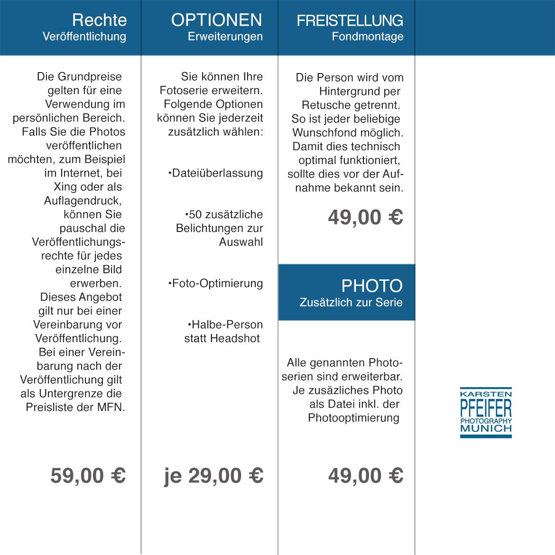 Preise und Optionen Fotoserien für Studio-Bewerbungsbilder ...